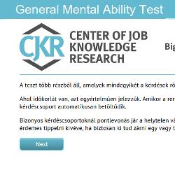 Általános kognitív képességek tesztelése