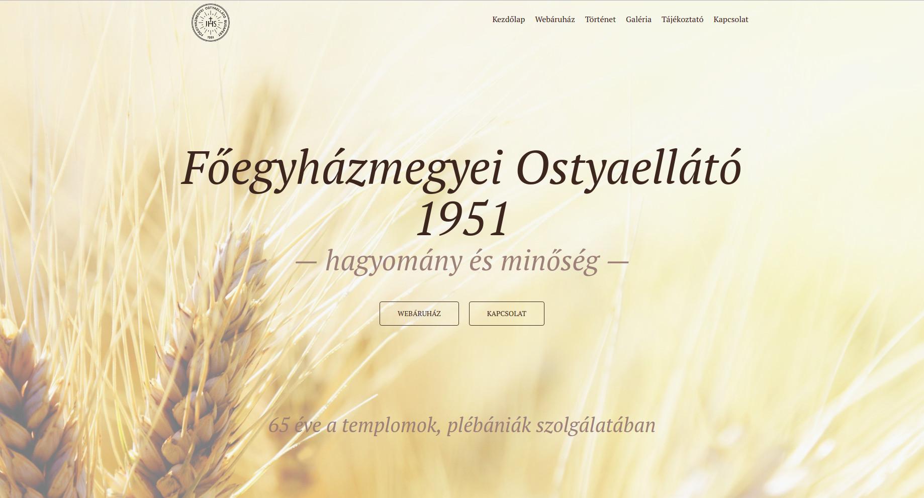 Főegyházmegyei Ostyaellátó webáruház
